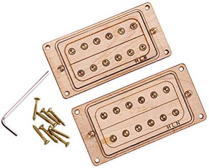 Artibetter Guitar Humbucker Pastillas de doble bobina Madera de ...