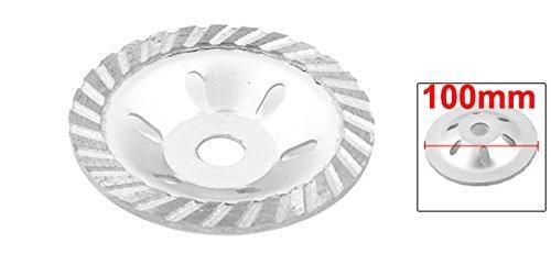Piedra de mármol de 100 mm Con 4 Diamantes de la muela abrasiva de la hoja de Plata del tono