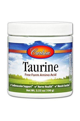 Carlson Taurine Powder 4 g, Amino Acid Powder, Muscle Development, Tissue Health, 100 g Jar