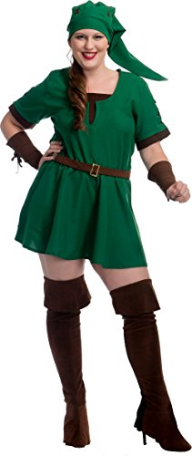 Charades Women's Plus Size Elf Warrior Princess Costume, 3X