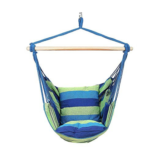 ZWS Swings Swing Seat Chair Garden Rocking Chair Seat Outdoor Reclining Children Rocking Chair Swing Hammock Swing Set (Color : Blue, Size : 100130cm) ()