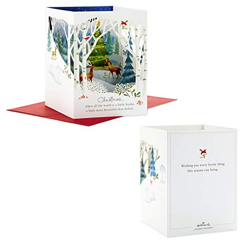 Hallmark Paper Wonder Pop Up Holiday Card (Woodland Animals Pop Up) Photo #5