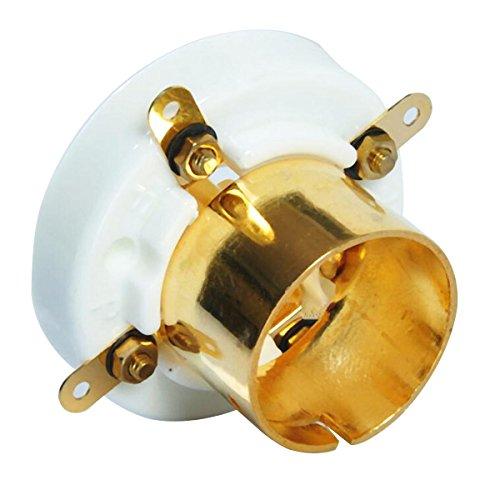 2Pcs 4 Pin Ceramic Tube Socket For 2A3 300B 274A S4U Base Vintage Amplifier Gold - Tools & Home Improvement Switches & Sockets - 2 x 4mm Banana Female Plug Jack