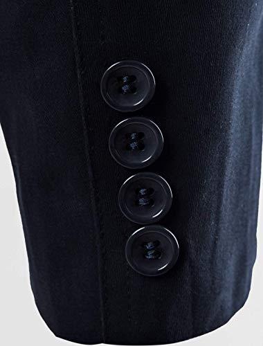 Décontractée Costume Tenue Un Vestes La Cheville Marine Ajustées Élégant À Et Avec Moderne Hommes Pour Une Des Automne Bottes Slim Blazer Le 6qPUSHx