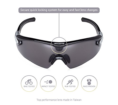 Mont Ventoux Sport Sunglasses for Women Men - Cycling Running Shooting Golf Fishing Baseball Driving Hiking 100% UV Protection Adjustable Nose Pads TR90 NZZ Unbreakable Frame by Mont Ventoux (Image #1)