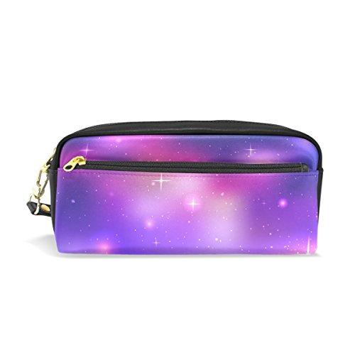 Tizorax Espace étoiles Nebula Galaxy Trousse Cuir PU étudiants papeterie Pen Sac pochette Sac de maquillage