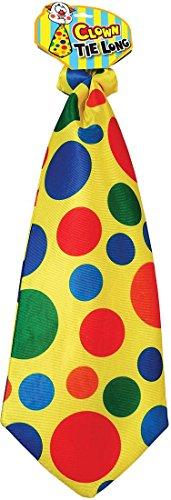 Adult Fancy Dress Party Costume Accessory Necktie Circus Joker Clown Tie Long (Clown Long Tie)