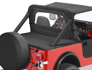 (Duster Deck Cover Black Denim 1987-1991 Jeep YJ Wrangler 90005-15)