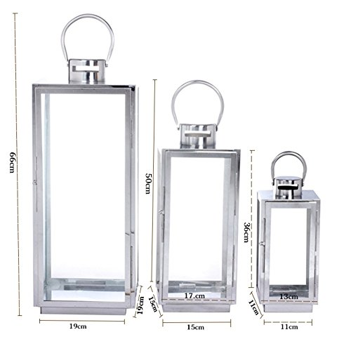Candle holder/european stainless steel lantern/portable candlestick/hotel beach banquet dedicated-D by SYT HXN