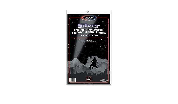10) plata edad tamaño estándar transparente bolsas de cómic ...