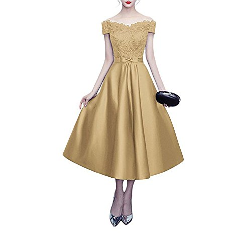 A Kleid the Linie Beauty champagnerfarben Damen of Leader qIYw6Px