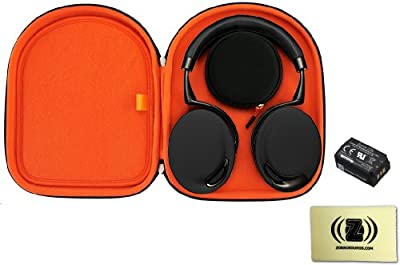 Parrot Zik Wireless Noise Cancelling Headphones with Touch Control (Black/Gold) Bundle with Parrot Zik Headphone Case, Parrot Zik Battery and Custom Design Zorro Sounds Cleaning Cloth