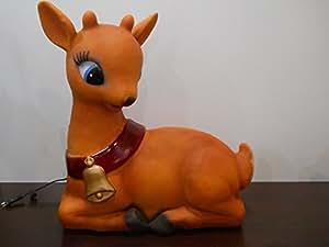 Navidad ciervo de plástico Blow molde con luz patio Decor–Figura Reno Bambi hembra posar