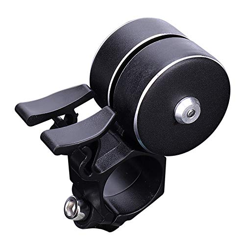 Excursion Sports Bike Bell - Classic Shape with Double Click 120db - Loud Sound Safety Handlebar Horn Bike Rings Alarm for Kids and Adults Cycling Road Bicycle Parts (Black)