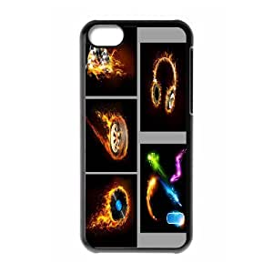 ZK-SXH - Fire Music Logo Personalized Phone Case for iPhone 5C, Fire Music Logo Customized Case