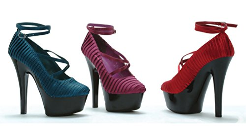 Ellie Shoes 6 Heel With Pleated Satin and Ankle Strap ezoOonyrk