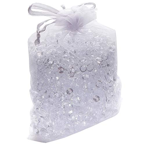 Luxury Clear Acrylic Diamond Table Confetti with over 3,000 Scatter Gems in a Variety of Sizes ()