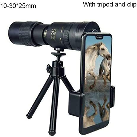 Monocular Telescopes 4K 10-300X40mm Super Telephoto Zoom Monocular Telescope For Bird Watching//Hunting//Camping//Hiking//Travel//Live Concert 10-100 * 30 10-300*40 10-30 * 30, With tripod and clip