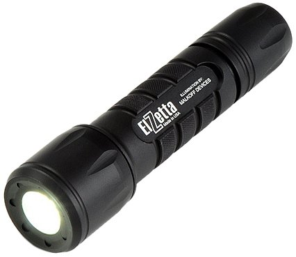 Elzetta ZFL-M60-LF2S Tactical Weapon LED Flashlight with Flood Lens Low Profile Bezel, 2-Cell, High/Strobe Tail Cap -