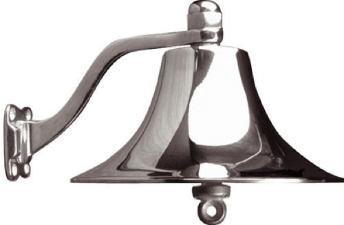 Sea Dog 455721 BRASS BELL(CHROME PLATED)-8 IN CAST POLISHED BRASS BELL by Sea Dog Line