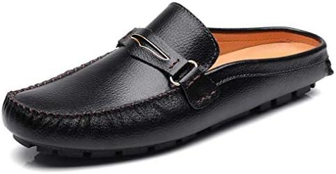 メンズ サンダル ビジネス オフィスサンダル 革靴 ドライビングシューズ かかとなし スリッパ 滑り止め カジュアル モカシン シューズ レジャーシューズ 通気性 軽量 仕事 通勤 室内履き 社内履き 事務サンダル