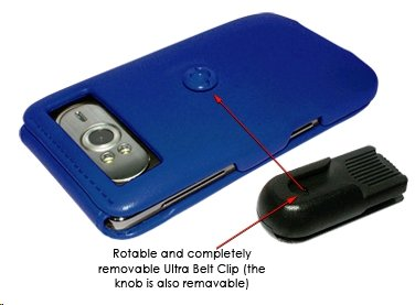Piel Frama Wallet Case for HTC Hd7 - Blue by Piel Frama
