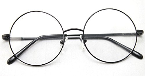 Agstum Retro Round Prescription ready Metal Eyeglass Frame (Large Size) - Glasses Potter Prescription Harry