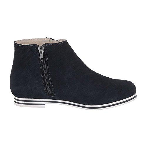 Schuhe Ital Boots Design Perforierte Damen Stiefeletten 5186 Leder qxpaw4