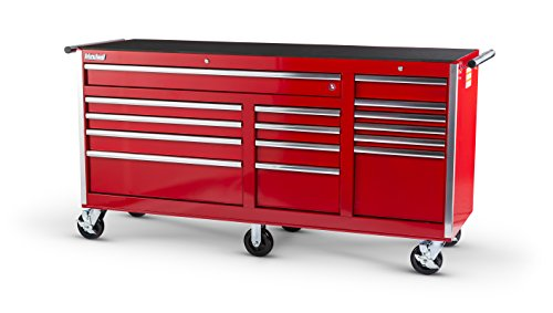 International VRB-7515RD 75-Inch 15 Drawer Red Tool Cabinet with 6 Heavy Duty Ball Bearing Drawer Slides (International Boxes Tool Red)