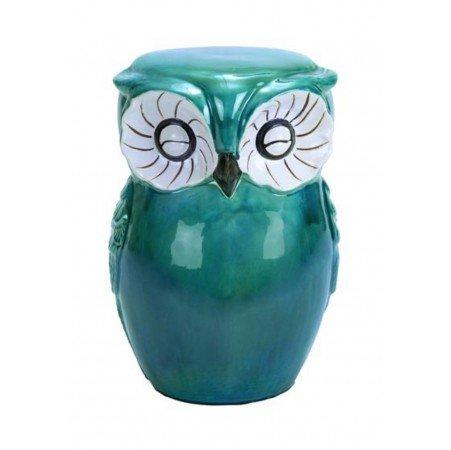 Ceramic Owl Garden Stool Cute garden or home decor Seatin...