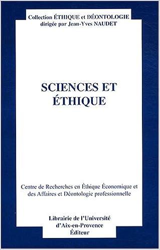 Télécharger en ligne Sciences et éthique pdf epub