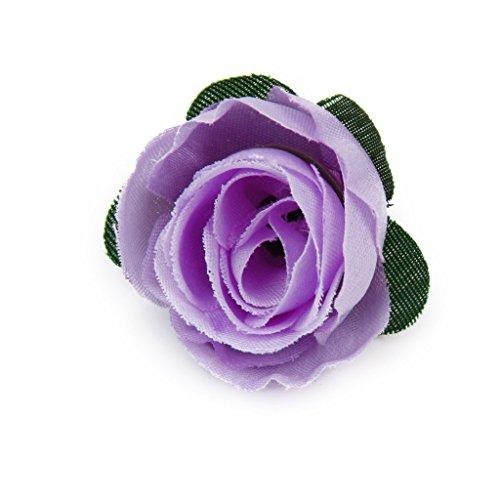 (Silk Flowers - 50 X Diy Artificial Silk Flower Wedding Decoration Purple - Flowers Cake Arch Bouquet Decor Silk Decoration Orange Arrangements Vase Daffodils Rose Artificial Bulk Wedding)