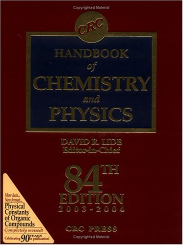 CRC Press Handbook of Chemistry & Physics, Special Student Edition