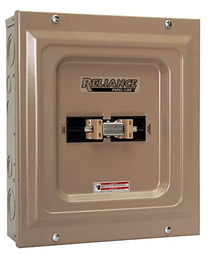 Reliance Controls Corporation TCA1006D Panel/Link 100-Amp Utility/60-Amp Generator Transfer Switch for Generators Up to 15,000 Watts (Renewed) by Reliance Products