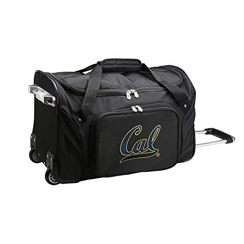 Bears Duffle - NCAA California Golden Bears Wheeled Duffle Bag, 22 x 12 x 5.5, Black
