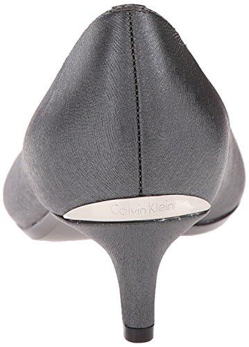 Calvin Klein Womens Gabrianna Pump Steel New Saffiano GNhVJAo
