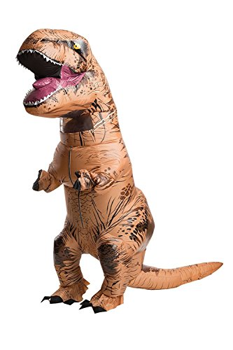 Adult Trex Costumes (Inflatable T-Rex Costume - Blow Up Jurassic World Dress Up Dinosaur for Halloween and Cosplay - Battery Operated - by Rubie's)