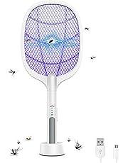 مضرب صاعق للحشرات بثلاث طبقات من الشبكات المعشقة لتخييم في الصيف داخل المنزل وخارجه من اي بازال
