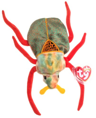 TY Beanie Baby - SCURRY the Beetle (Spider With Orange Body And Long Legs)