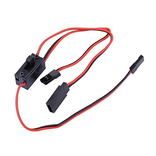 Off Switch RC Car Helicopter Receiver with JR Futaba Wire Connectors Charge Lead ()