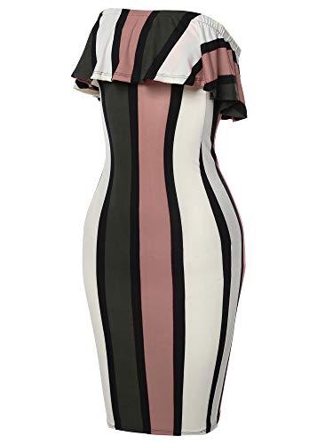 Tube Pinstripe Midi Body Fewdrv0039 Women's Emma Mauve Print Made Con by Dress wtqCA8O0