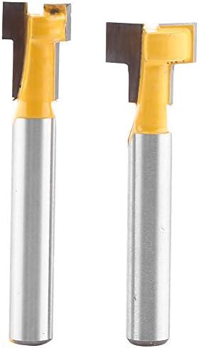 2 stücke Gelb T-Slot Hartmetall Holzbearbeitung Cutter Cnc Router Bit für 3/8 '' 0026 1/2 '' Schneide 1/4 '' schaft