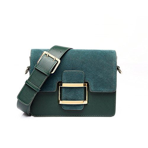 Vert de coursier sac accotement sac square sac matte sac épaule rétro wild Noirâtre large nouveau brown ETq6E