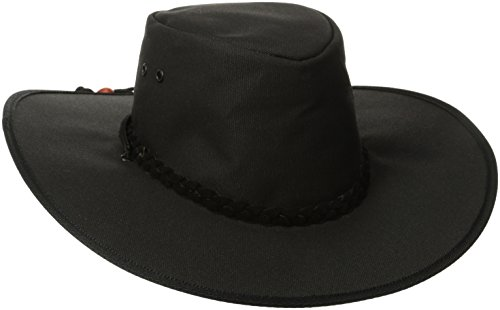 Kakadu Traders Australia Cape York Canvas Hat, Black, X-Large -