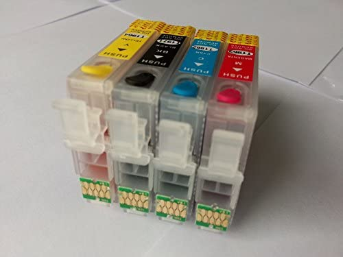 Marca f-ink @ T200 Full cartucho de tinta recargable para Epson XP ...