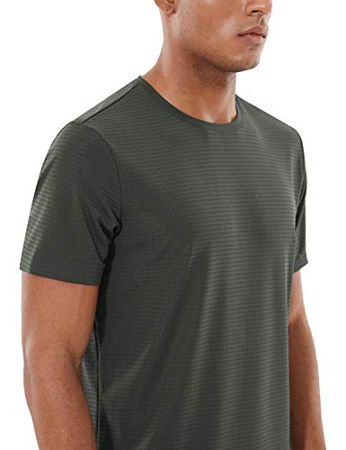 BALEAF Men's Quick Dry Short Sleeve T-Shirt Sun Protection Running Workout Shirts