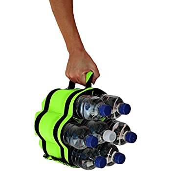 Stubby Strip Original Neoprene Bottle or Can Holder - Perfect for Beach, Camping, Tailgating, Sporting Events and more (Lime)