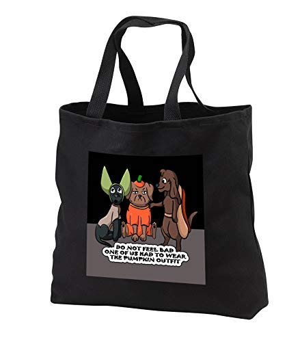 Sandy Mertens Halloween Designs - Dog Costume Cartoon, Funny Quote with Pumpkin Outfit, 3drsmm - Tote Bags - Black Tote Bag JUMBO 20w x 15h x 5d (tb_290229_3)]()