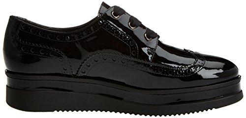 Negro Negro Charol Gadea para Brogue Mujer Cordones Charol Zapatos de 1n4qRP