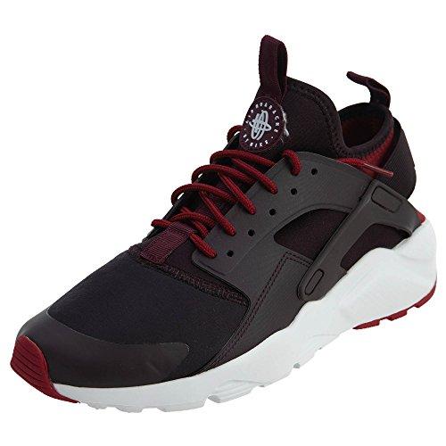 NIKE Herren Huarache Run Ultra Running Sneaker Port Weiß / Bordeaux-Edelrot